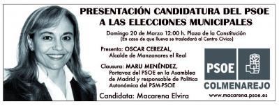 Presentación Candidatura PSOE Colmenarejo Elecciones Municipales 2011