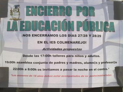 ENCIERRO POR LA EDUCACIÓN PÚBLICA